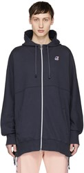 Faith Connexion Navy K Way Edition Laced Hoodie