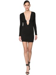Philipp Plein 29 Elegant Viscose Blend Mini Dress Black