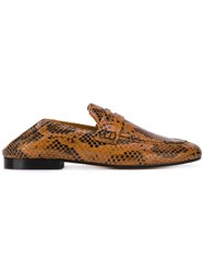 30a40e6649 Isabel Marant Fezzy Snakeskin Print Loafers Brown