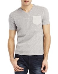 Kenneth Cole Acid Washed Pocket T Shirt Seagull