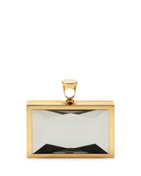 Tom Ford Faceted Brass Ring Clutch Bag Clear