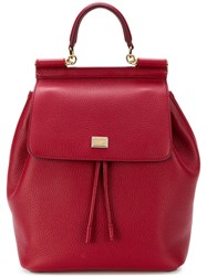 Dolce And Gabbana Sicily Backpack Red