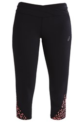 Asics 3 4 Sports Trousers Picado Diva Pink Black