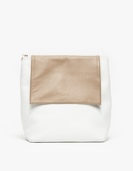 Cold Picnic Colorblock Backpack White Natural