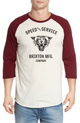 Brixton Men's Rydell Baseball T Shirt Off White