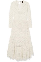 Loewe Paula's Ibiza Crocheted Cotton Maxi Dress Ivory