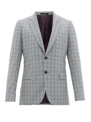 Paul Smith Single Breasted Houndstooth Wool Blend Blazer Multi