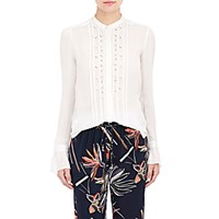 Maiyet Women's Embellished Pintucked Blouse White