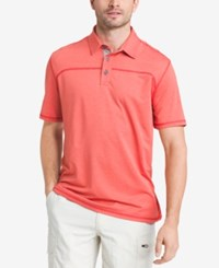 G.H. Bass And Co. Men's Performance Polo Molten Lava Heather