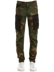 G Star Rovic Mix 3D Tapered Camo Cotton Pants Army Camo