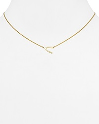 Jennifer Zeuner Jewelry Jennifer Zeuner Lily Mini Wishbone Necklace 16 Gold