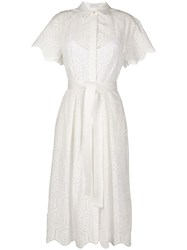 Rebecca Vallance Savannah Broderie Anglaise Shirt Dress White