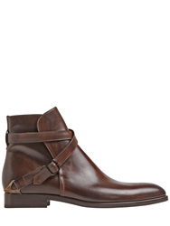 Fratelli Rossetti Hand Painted Leather Ankle Boots Brown