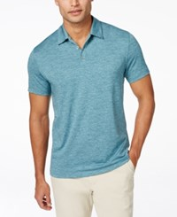 Alfani Men's Classic Fit Ethan Performance Polo Created For Macy's Peacock Plume