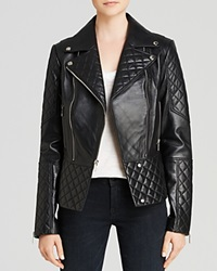 Dl2 By Dawn Levy Dakota Quilted Leather Moto Jacket Black