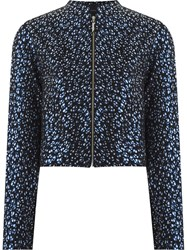 Giuliana Romanno Abstract Print Bomber Jackets Black