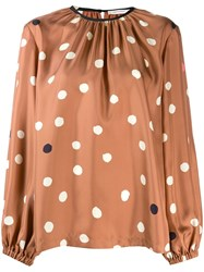 Chinti And Parker Loose Fit Polka Dot Blouse 60
