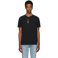 Givenchy Black Slim Fit Chain T Shirt