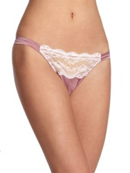 Myla Isabella Lace Trimmed Thong Natural Light Pink