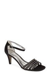 Women's David Tate 'Terra' Ankle Strap Sandal Black Satin