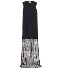 Mcq By Alexander Mcqueen Sleeveless Dress With Lace Black