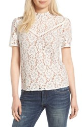 Wayf Women's Greyson Lace Top Ivory