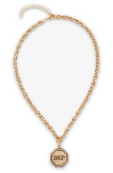 Women's Moschino 'Shop' Necklace