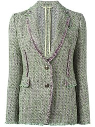 Etro Tweed Blazer Green