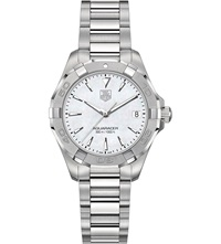 Tag Heuer Way1312ba0915 Aquaracer Polished Steel And Mother Of Pearl Watch Silver