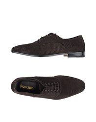 Pollini Lace Up Shoes Brown