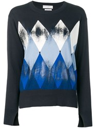 Ballantyne Graphic Print Knitted Top Black