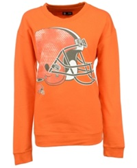 5Th And Ocean Women's Cleveland Browns Athletic Sweatshirt Orange