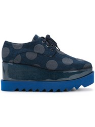 Stella Mccartney Polka Dot Elyse Shoes Women Polyester Polyurethane 40 Blue