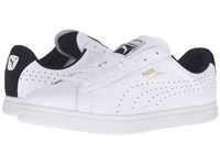 Puma Court Star Crafted White Black Men's Tennis Shoes