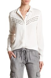 Dress Forum Grommet Stud Blouse White