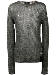 Lost And Found Ria Dunn Ribbed Detail Jumper Men Cotton Linen Flax S Black