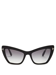Tom Ford Valesca Cat Eye Sunglasses Black Multi