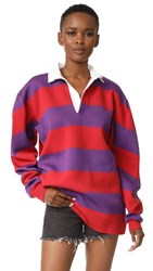 Marc Jacobs Long Sleeve Shirt Red Multi