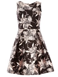 Dorothy Perkins Oriental Print Prom Dress Black