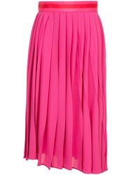 Maggie Marilyn Pleated Midi Dress Pink And Purple