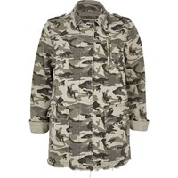 River Island Womens Khaki Green Camo Army Jacket