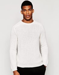 United Colors Of Benetton Knitted Crew Neck Jumper Beige