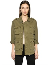 Anine Bing Oversized Cotton Canvas Field Jacket