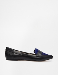 Bronx Flat Point Shoes Blackcobaltponyle