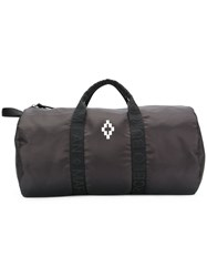 Marcelo Burlon County Of Milan Contrast Logo Holdall Cotton Leather Polyester Black