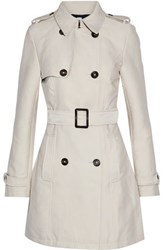 Iris And Ink James Double Breasted Gabardine Trench Coat Beige