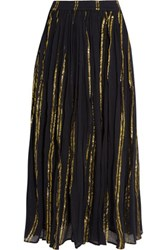 Mes Demoiselles Bosphore Cotton Blend Gauze Maxi Skirt Navy