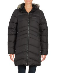 Marmot Montreal Hooded Quilted Coat Black