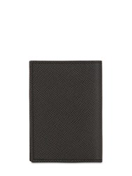 Pineider 720 Mini Leather Card Holder Black