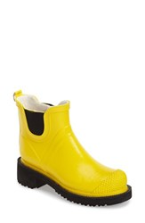 Women's Ilse Jacobsen Hornbaek 'Rub 47' Short Waterproof Rain Boot Yellow
